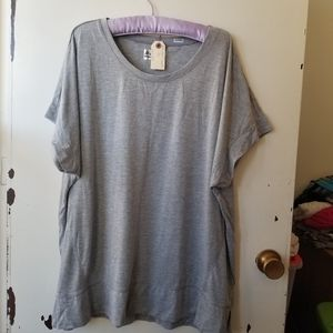 RBX Grey Short Sleeve V-Neck T-Shirt